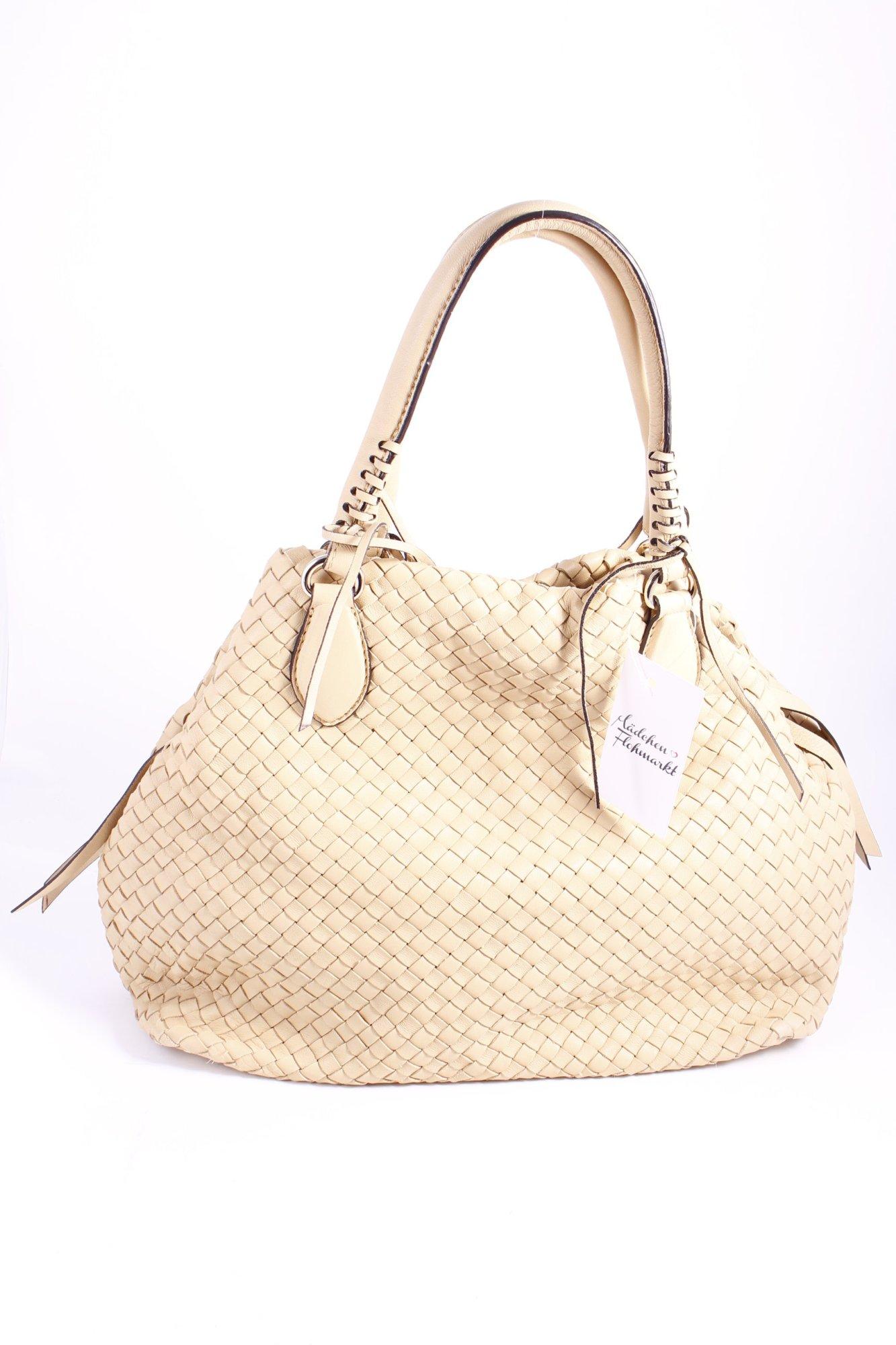 Abro Borsa Shopper Crema Modello Web Stile Casual Donna Pelle Crema-  - ebay.it