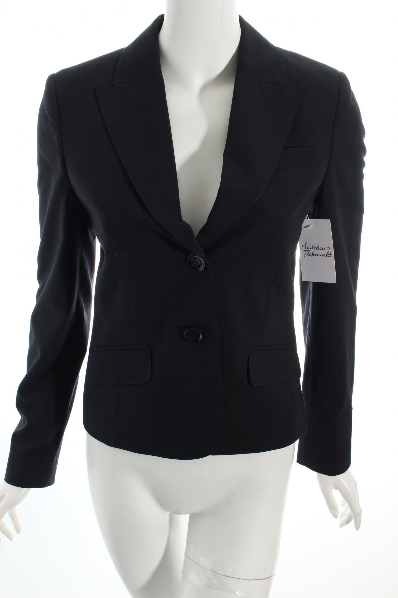 esprit kurz blazer dunkelblau business look damen gr de 34 short blazer ebay. Black Bedroom Furniture Sets. Home Design Ideas