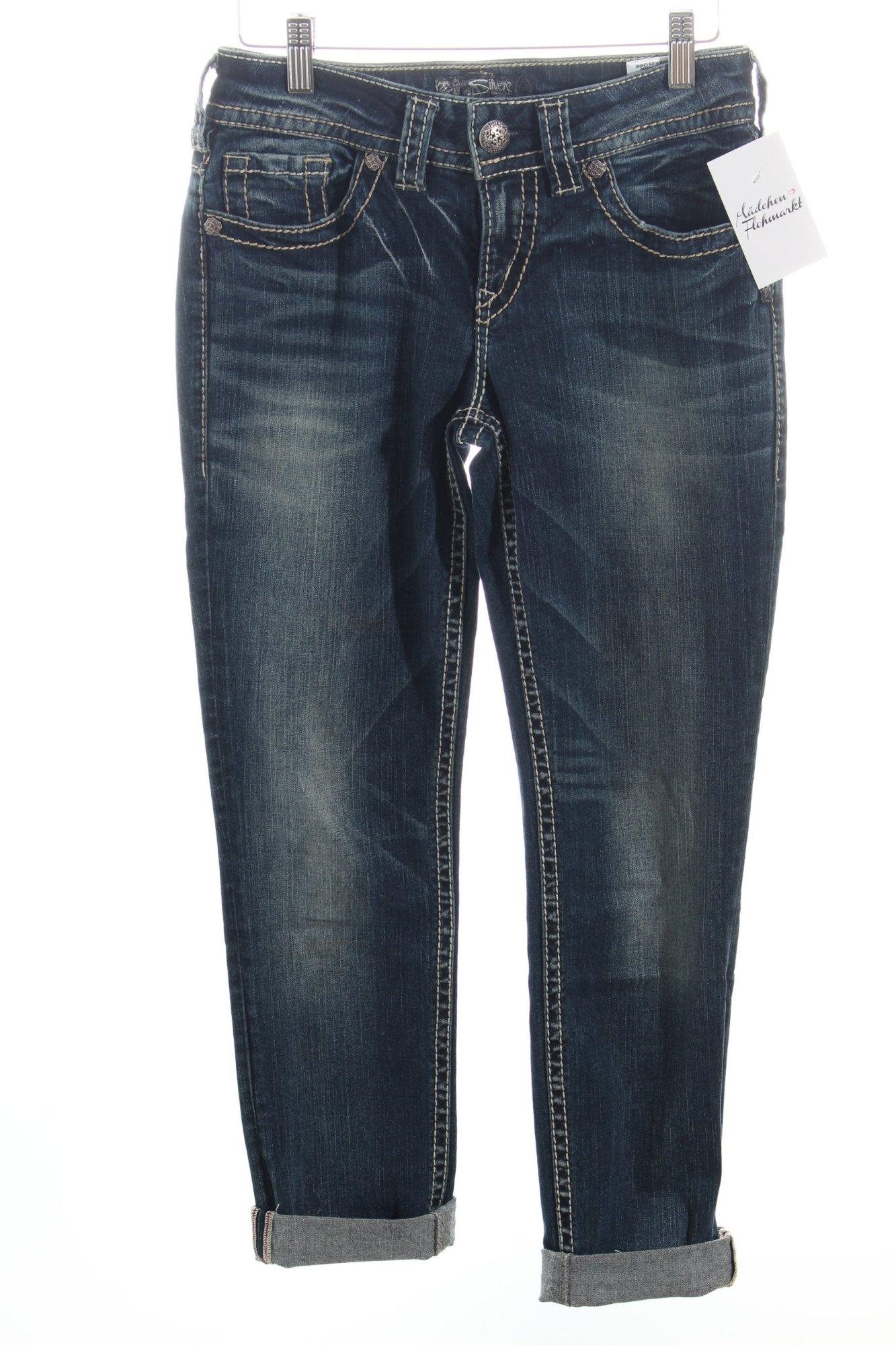 silver jeans r hrenjeans suki dunkelblau damen gr de 34 tube jeans ebay. Black Bedroom Furniture Sets. Home Design Ideas